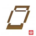 Kunststoff-Dachausstiegsfenster | 45x73 cm (450x730 mm)  | weiß mit braune Blechabdeckung | SKYLIGHT