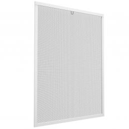 Insektenschutz-Spannrahmen aus Aluminium für Fenster   100x120 cm   weiß