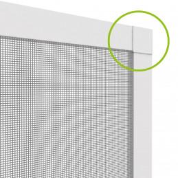 Insektenschutz-Spannrahmen aus Aluminium für Fenster | 130x150 cm | weiß