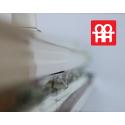 Kunststofftür | 90x205 cm (900x2050 mm) | weiß | Festverglasung| links