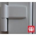 Kunststofftür | 90x205 cm (900x2050 mm) | weiß | voll | links