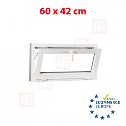 Kunststofffenster   60x42 cm (600x420 mm)   weiß   Kipp-Fenster   6 Kammern