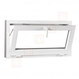 Plastové okno | 80x50 cm (800x500 mm) | bílé | sklopné | 6 komor