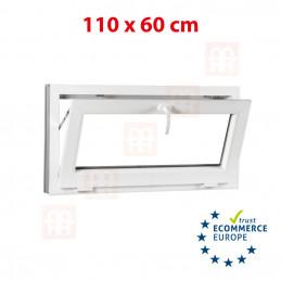 Kunststofffenster | 110x60 cm (1100x600 mm) | weiß | Kippfenster | 6 Kammern