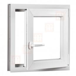 Kunststofffenster   90x90 cm (900x900 mm)   weiß   Dreh-Kipp-Fenster   rechts   6 Kammern