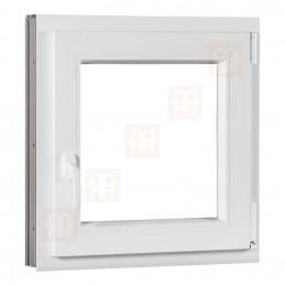 Kunststofffenster   100x100 cm (1000x1000 mm)   weiß   Dreh-Kipp-Fenster   rechts   6 Kammern