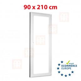 Kunststofftür | 90 x 210 cm (900 x 2100 mm) | weiß | Balkontüren | Dreh-Kipp | rechts | 5 Kammern