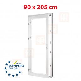 Nebeneingangstür  | 90x205 cm (900x2050 mm) | weiß | 2-fach-Isolierglas| links