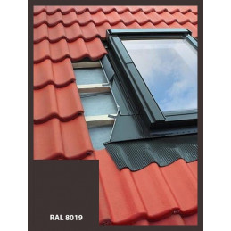 Eindeckrahmen für Dachfenster | 66x118 cm (660x1180 mm) | braun | für Profil Bedachung