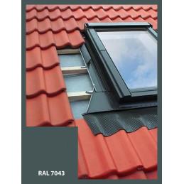 Eindeckrahmen für Dachfenster | 66x118 cm (660x1180 mm) | grau | für Profil Bedachung