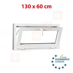Kunststofffenster | 130x60 cm (1300x600 mm) | weiß | Kipp-Fenster