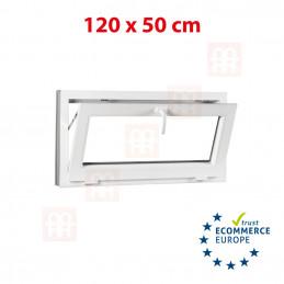 Kunststofffenster | 120x50 cm (1200x500 mm) | weiß | Kipp-Fenster