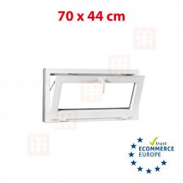 Kunststofffenster | 70x44 cm (700x440 mm) | weiß | Kipp-Fenster