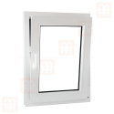 Kunststofffenster | 70x90 cm (700x900 mm) | weiß | Dreh-Kipp-Fenster | rechts | 6 Kammern
