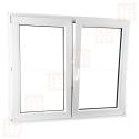 Kunststofffenster   140x110 cm (1400x1100 mm)   weiß   Zweiflügelige ohne Pfosten   rechts   6 Kammern